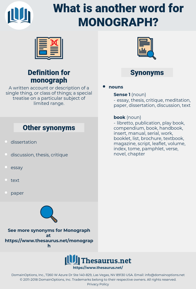 monograph, synonym monograph, another word for monograph, words like monograph, thesaurus monograph