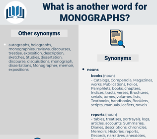 monographs, synonym monographs, another word for monographs, words like monographs, thesaurus monographs