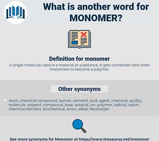 monomer, synonym monomer, another word for monomer, words like monomer, thesaurus monomer