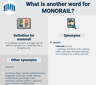 monorail, synonym monorail, another word for monorail, words like monorail, thesaurus monorail