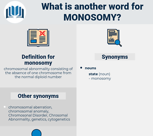 monosomy, synonym monosomy, another word for monosomy, words like monosomy, thesaurus monosomy
