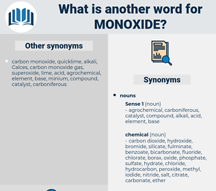monoxide, synonym monoxide, another word for monoxide, words like monoxide, thesaurus monoxide