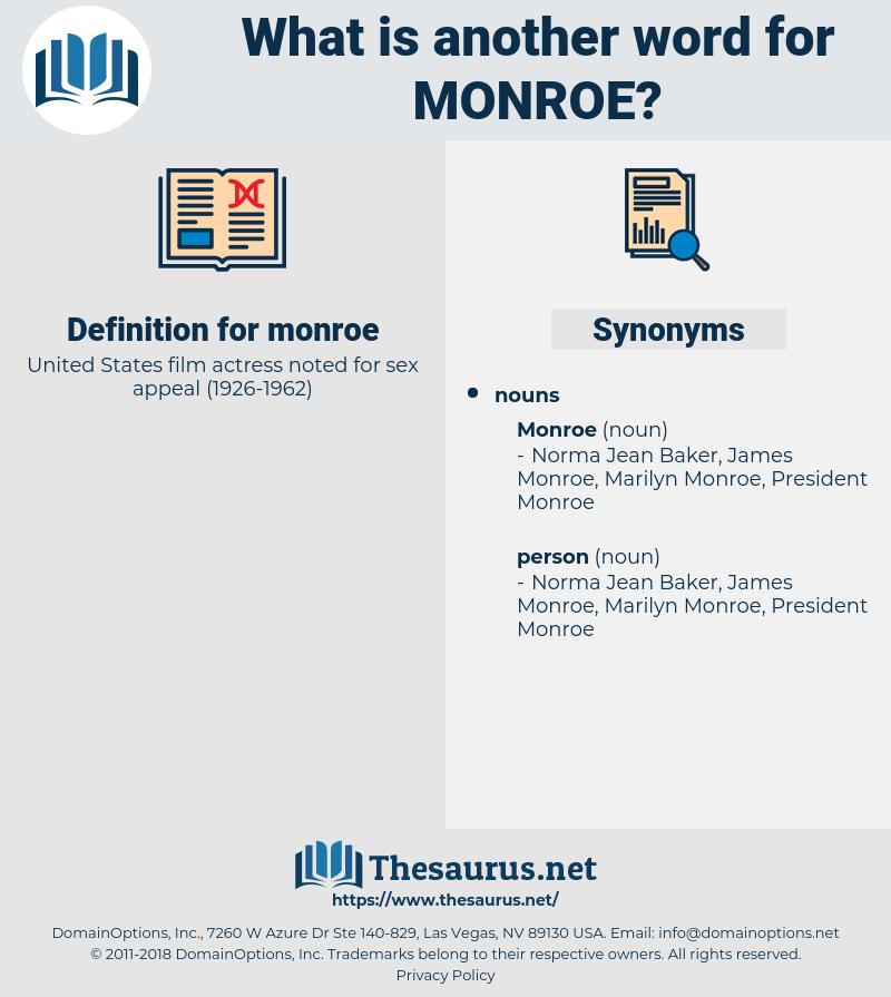 monroe, synonym monroe, another word for monroe, words like monroe, thesaurus monroe