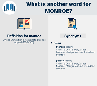 monroe, synonym monroe, another word for monroe, words like monroe, thesaurus monroe