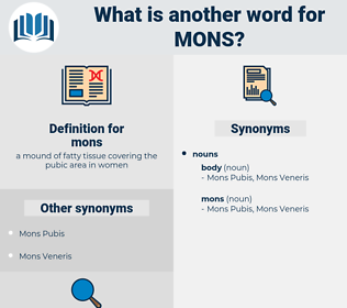 mons, synonym mons, another word for mons, words like mons, thesaurus mons
