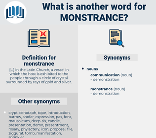 monstrance, synonym monstrance, another word for monstrance, words like monstrance, thesaurus monstrance