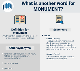 monument, synonym monument, another word for monument, words like monument, thesaurus monument