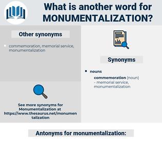 monumentalization, synonym monumentalization, another word for monumentalization, words like monumentalization, thesaurus monumentalization