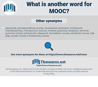 MOOC, synonym MOOC, another word for MOOC, words like MOOC, thesaurus MOOC