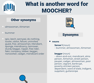 moocher, synonym moocher, another word for moocher, words like moocher, thesaurus moocher