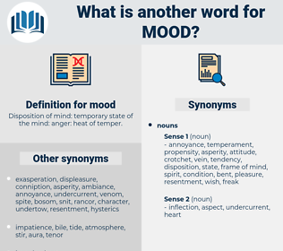 mood, synonym mood, another word for mood, words like mood, thesaurus mood