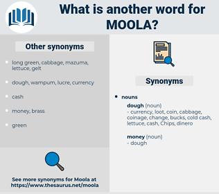 moola, synonym moola, another word for moola, words like moola, thesaurus moola