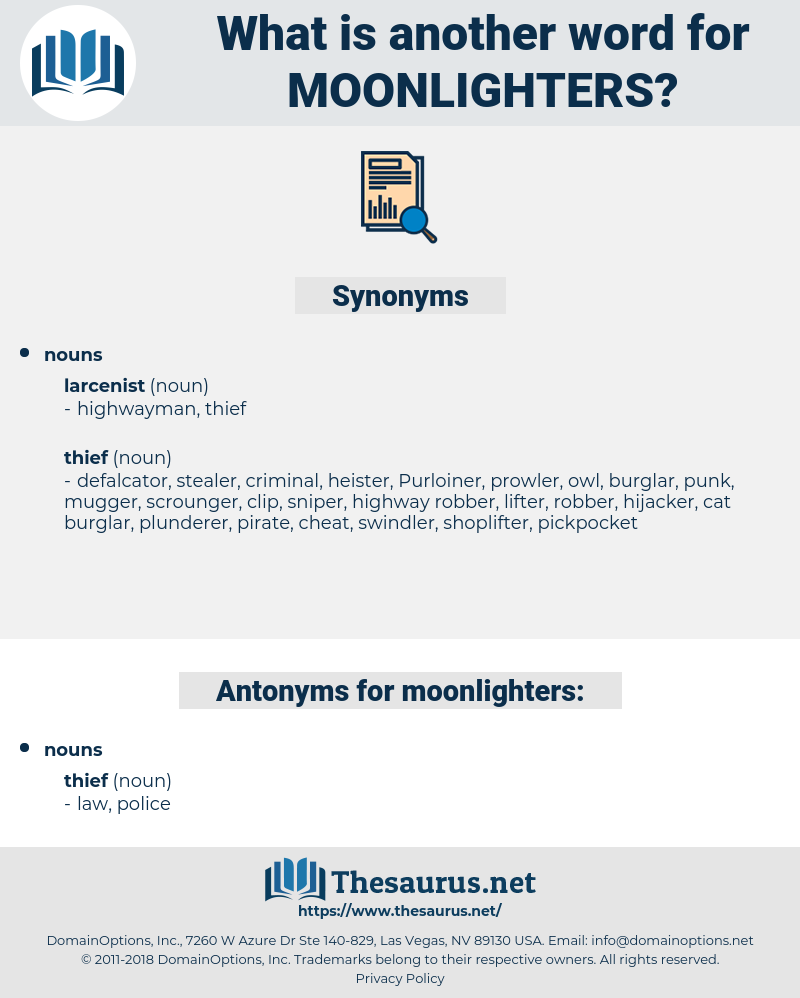moonlighters, synonym moonlighters, another word for moonlighters, words like moonlighters, thesaurus moonlighters