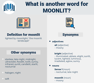 moonlit, synonym moonlit, another word for moonlit, words like moonlit, thesaurus moonlit