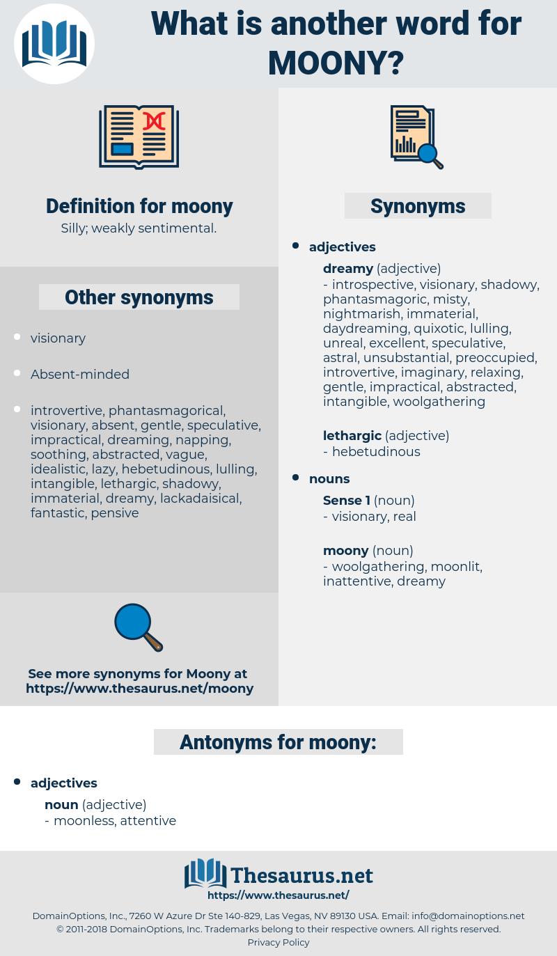 moony, synonym moony, another word for moony, words like moony, thesaurus moony