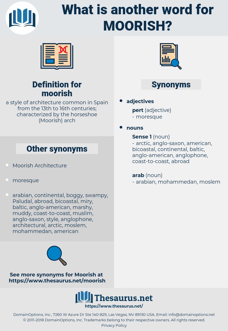 moorish, synonym moorish, another word for moorish, words like moorish, thesaurus moorish