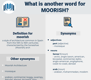 moorish, synonym moorish, another word for moorish, words like moorish, thesaurus moorish