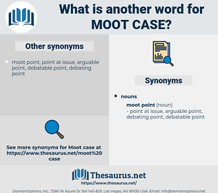 moot case, synonym moot case, another word for moot case, words like moot case, thesaurus moot case