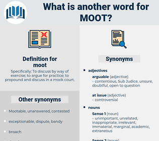 moot, synonym moot, another word for moot, words like moot, thesaurus moot