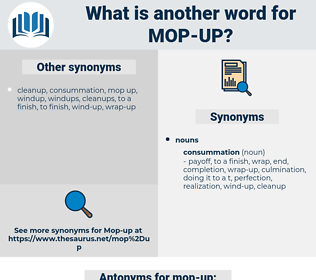 mop up, synonym mop up, another word for mop up, words like mop up, thesaurus mop up