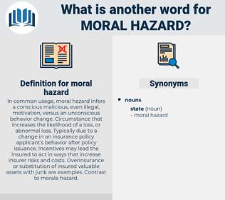 moral hazard, synonym moral hazard, another word for moral hazard, words like moral hazard, thesaurus moral hazard