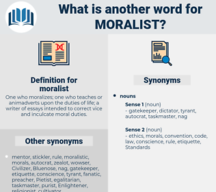 moralist, synonym moralist, another word for moralist, words like moralist, thesaurus moralist