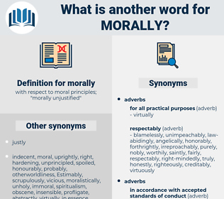 morally, synonym morally, another word for morally, words like morally, thesaurus morally