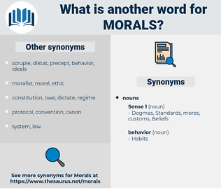 morals, synonym morals, another word for morals, words like morals, thesaurus morals