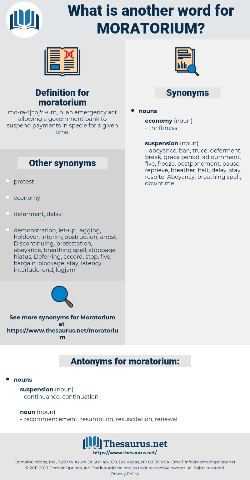 moratorium, synonym moratorium, another word for moratorium, words like moratorium, thesaurus moratorium