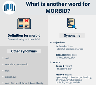 morbid, synonym morbid, another word for morbid, words like morbid, thesaurus morbid
