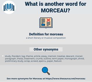 morceau, synonym morceau, another word for morceau, words like morceau, thesaurus morceau