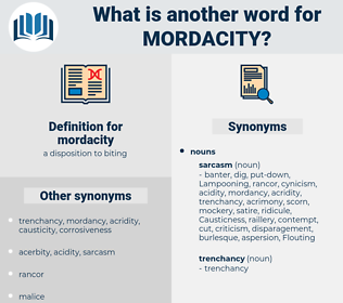 mordacity, synonym mordacity, another word for mordacity, words like mordacity, thesaurus mordacity