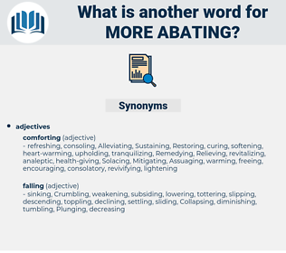 more abating, synonym more abating, another word for more abating, words like more abating, thesaurus more abating
