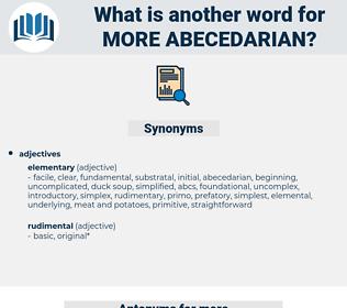 more abecedarian, synonym more abecedarian, another word for more abecedarian, words like more abecedarian, thesaurus more abecedarian