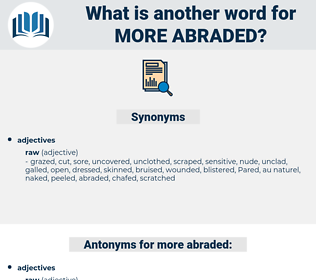 more abraded, synonym more abraded, another word for more abraded, words like more abraded, thesaurus more abraded