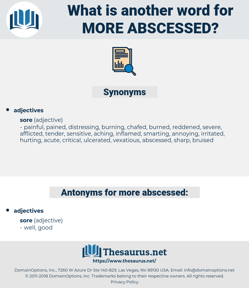 more abscessed, synonym more abscessed, another word for more abscessed, words like more abscessed, thesaurus more abscessed