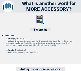 more accessory, synonym more accessory, another word for more accessory, words like more accessory, thesaurus more accessory