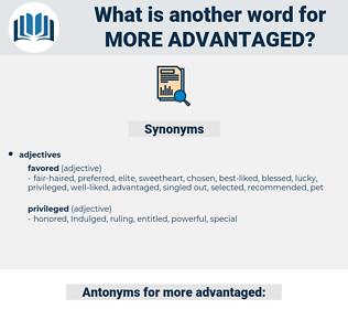 more advantaged, synonym more advantaged, another word for more advantaged, words like more advantaged, thesaurus more advantaged