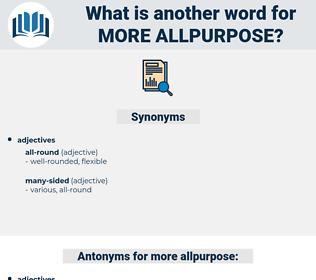 more allpurpose, synonym more allpurpose, another word for more allpurpose, words like more allpurpose, thesaurus more allpurpose