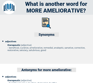 more ameliorative, synonym more ameliorative, another word for more ameliorative, words like more ameliorative, thesaurus more ameliorative