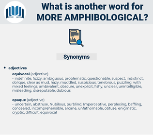 more amphibological, synonym more amphibological, another word for more amphibological, words like more amphibological, thesaurus more amphibological