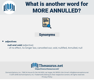 more annulled, synonym more annulled, another word for more annulled, words like more annulled, thesaurus more annulled