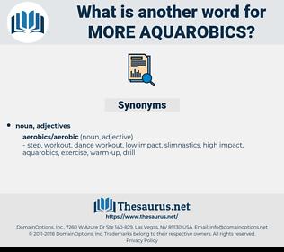 more aquarobics, synonym more aquarobics, another word for more aquarobics, words like more aquarobics, thesaurus more aquarobics