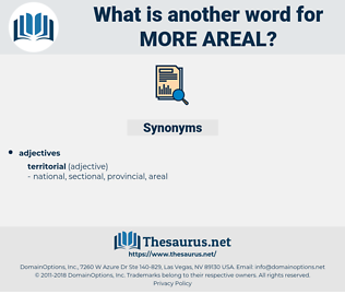 more areal, synonym more areal, another word for more areal, words like more areal, thesaurus more areal