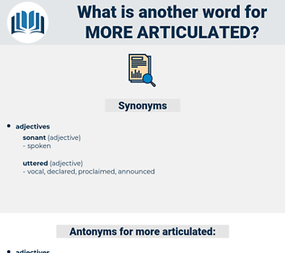 more articulated, synonym more articulated, another word for more articulated, words like more articulated, thesaurus more articulated