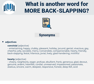 more back-slapping, synonym more back-slapping, another word for more back-slapping, words like more back-slapping, thesaurus more back-slapping