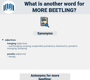 more beetling, synonym more beetling, another word for more beetling, words like more beetling, thesaurus more beetling