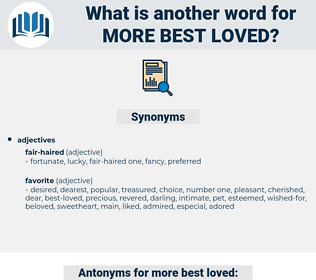 more best-loved, synonym more best-loved, another word for more best-loved, words like more best-loved, thesaurus more best-loved