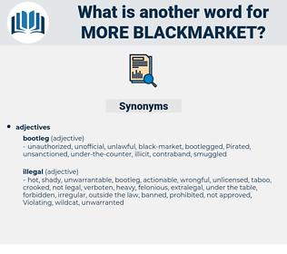 more blackmarket, synonym more blackmarket, another word for more blackmarket, words like more blackmarket, thesaurus more blackmarket