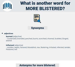 more blistered, synonym more blistered, another word for more blistered, words like more blistered, thesaurus more blistered